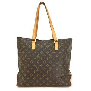 Auth Louis Vuitton Monogram Cabas Mezzo Tote Bag